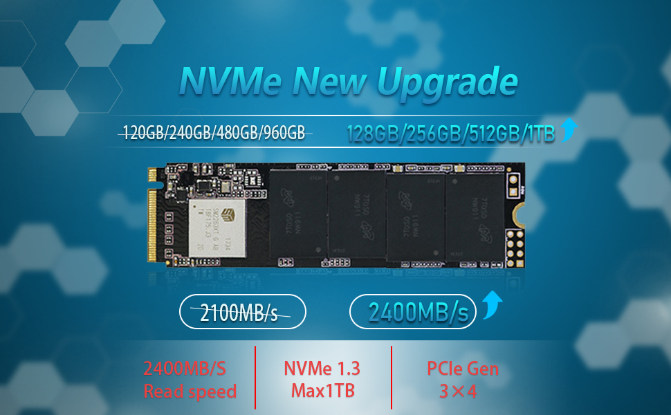 Amazon.com: KingSpec PCIe NVMe 3d NAND Solid State Red- M.2 SSD ...