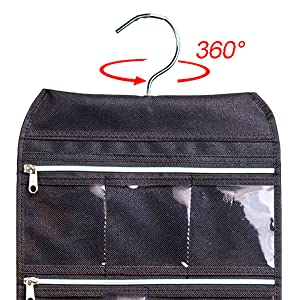 Amazoncom MISSLO 8 Zippered Pockets Travel Jewelry Roll up