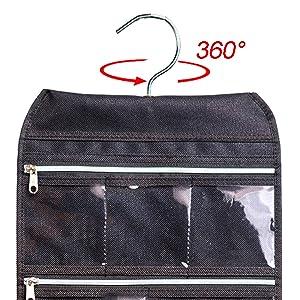 Amazoncom MISSLO 8 Zippered Pockets Travel Jewelry Roll up