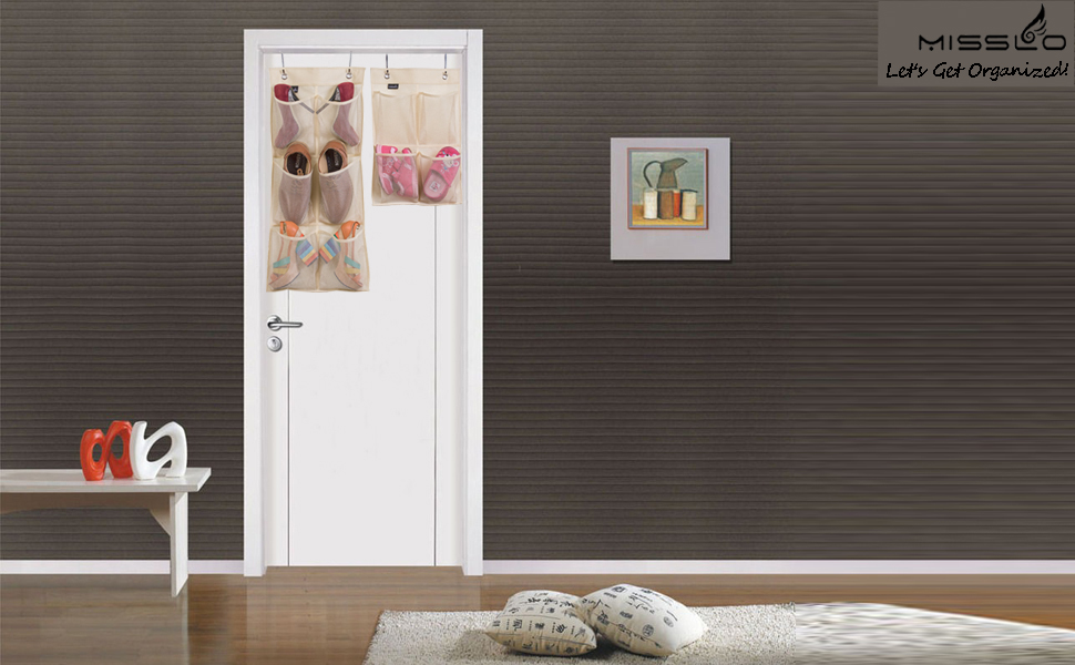 Misslo Narrow Closet Door Organizer (Beige)