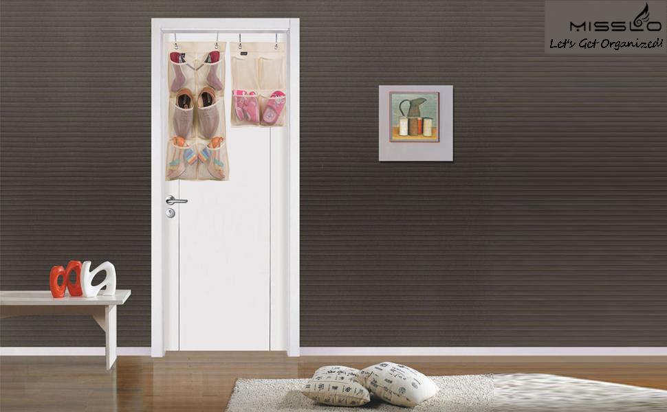 Amazon Misslo Hanging Organizer Over The Narrow Closet Door For