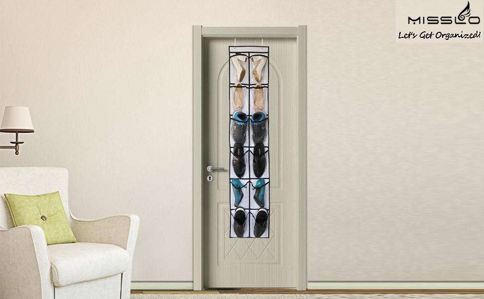 Is Your Door Too Narrow To Fit Regular Over Door Shoe Organizer?