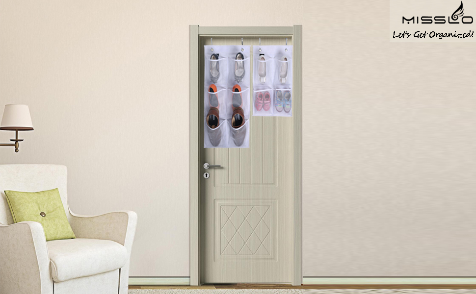 Superior Misslo Narrow Closet Door Organizer (White)