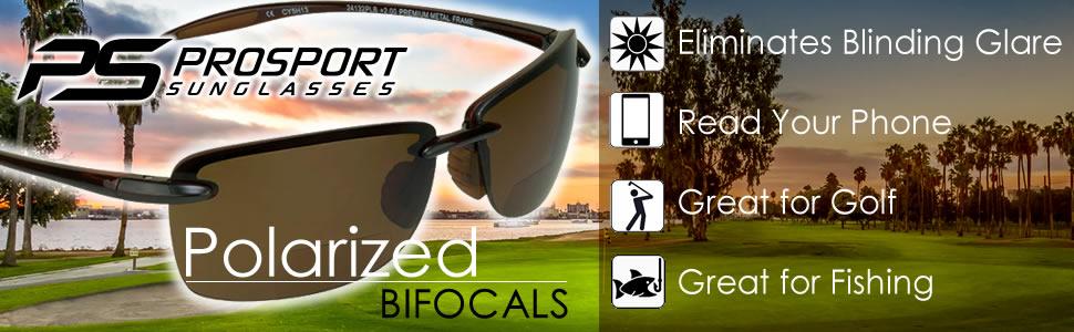 Polarized Bifocal Sunglasses Golf Fishing Sport
