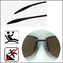 polarized bifocals comfortable rubber nose piece and ear piece