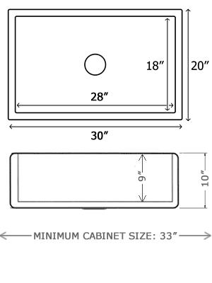 30 inch farmhouse sink