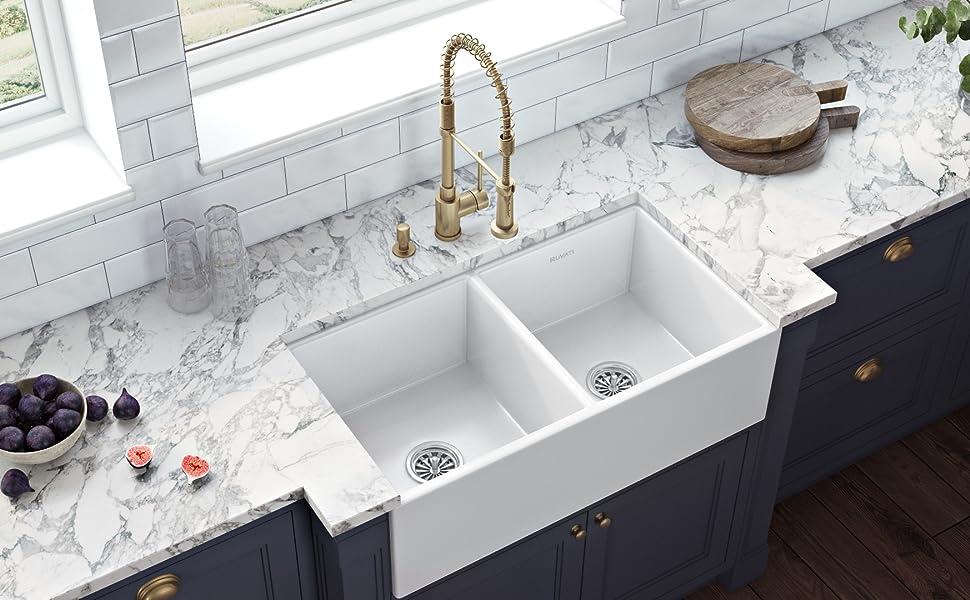 Double Bowl Farmhouse Sink