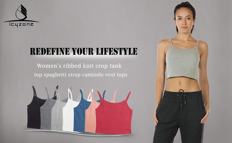 275da2d07f0ff icyZone spaghetti crop top. cropped tank top crop tops for women crop top  women crop tops sexy crop top