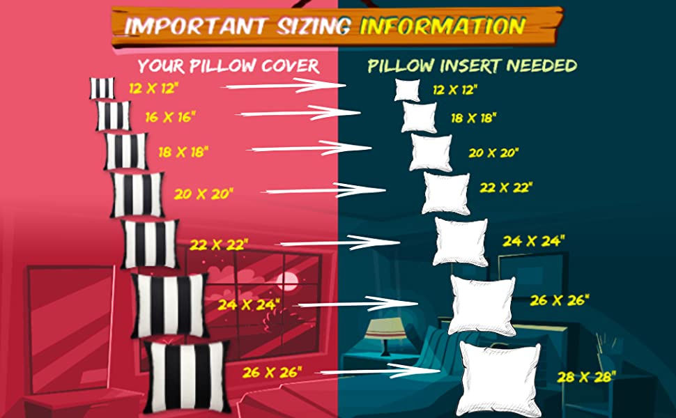 infograph on pillow sizing