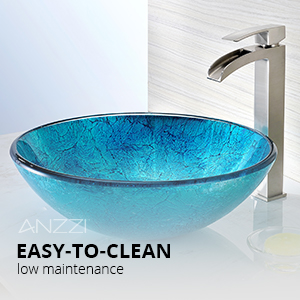 Accent glass vessel sink-3