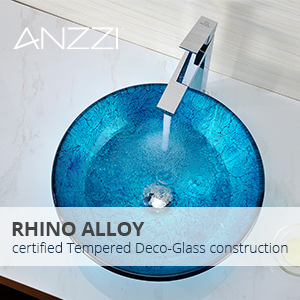 Accent glass vessel sink-1