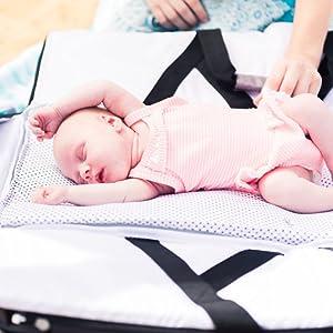 Diaper bag travel bassinet portable bassinet changing mat play pen