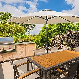 patio umbrella outdoor bakyard table umbrellas