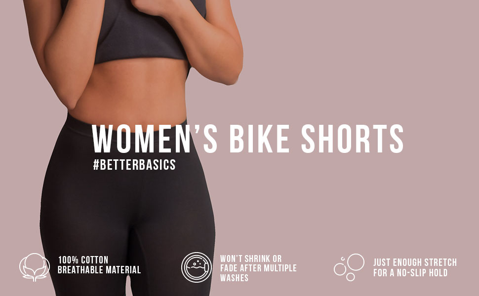 3f3b9b1da9 Emprella Bike Shorts Women, 2-Pack Spandex Biker Short for Yoga Gym ...