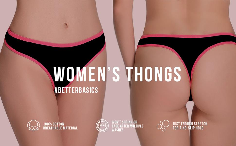 thongs, underwear, womens, cotton, slip, seamless, panties