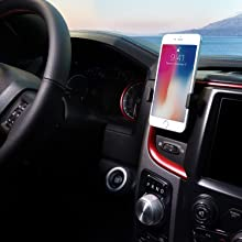 Phone Holder for Car Magnetic,PLDHPRO Universal Stick On Car Dashboard Phone Mount,360/°Adjustable Rotating,for iPhone Samsung Sony Google All 4-6.4 Smartphones GPS Mobile(Rose Gold) 4351520775