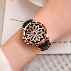 Womens Creative Fashion Genuine Leather Quartz Watch