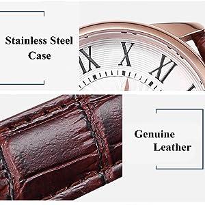 Womens Watch Classic Genuine Leather Dress