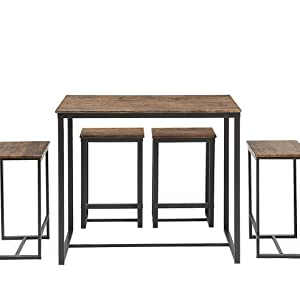 Abington Lane Kitchen Table Set - Versatile, Tall, Modern Table Set for Any Room or Occasion decor