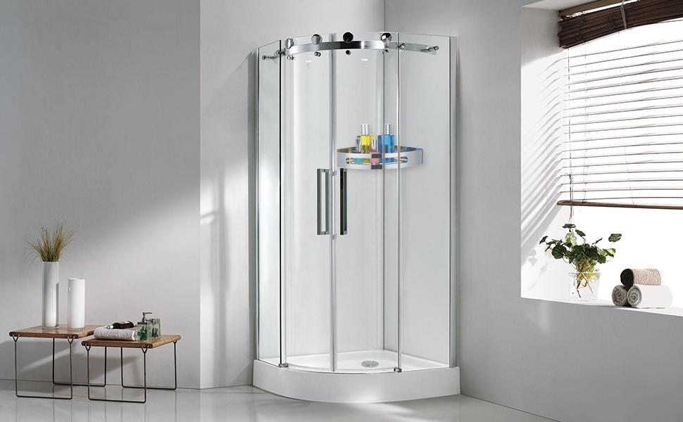 Shower Caddy Bath Shelf Storage Combo Organizer Steel Corner Shower ...