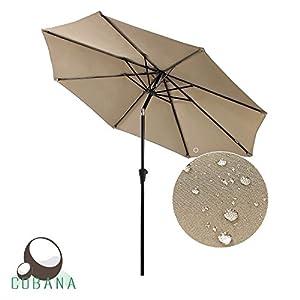 Amazon Com Cobana Patio Umbrella Outdoor Aluminum Table