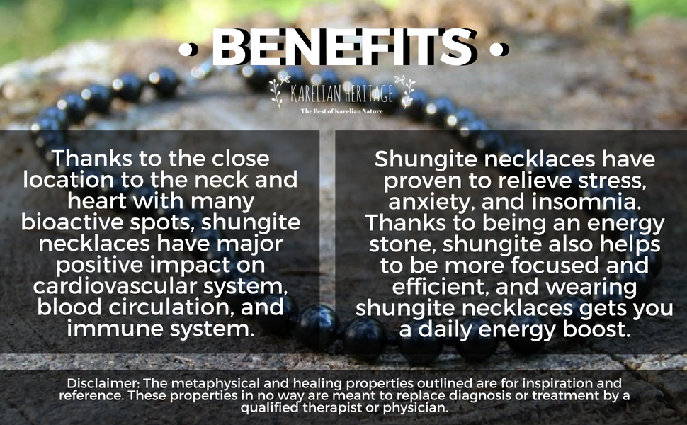 Shungite necklace benefits
