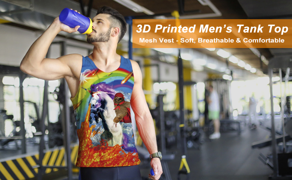 Men Plant Friut Food 3D Print Tank Top Sleeveless T-shirt Sports Gym Casual Tees