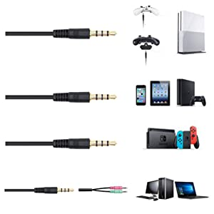 over ear wired headphones for laptop pc tablets