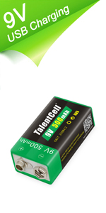 9V Rechargeable Lithium ion Battery