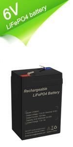 6V LiFePO4 battery