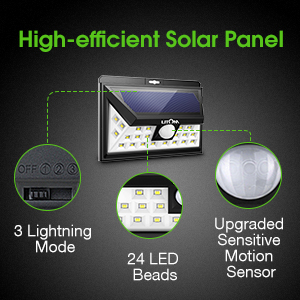 Solar Lights with Strong Solar Panel