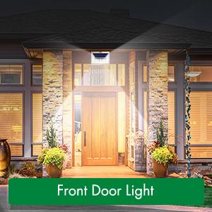 solar front door lights