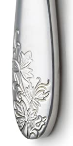 Danialli Silverware flatware cutlery set 18 10 stainless steel imperial silverware set