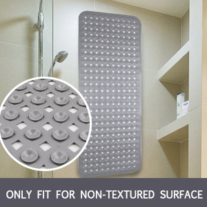 bathtub bath tub shower mat mildew resistant machine washable extra long non slip