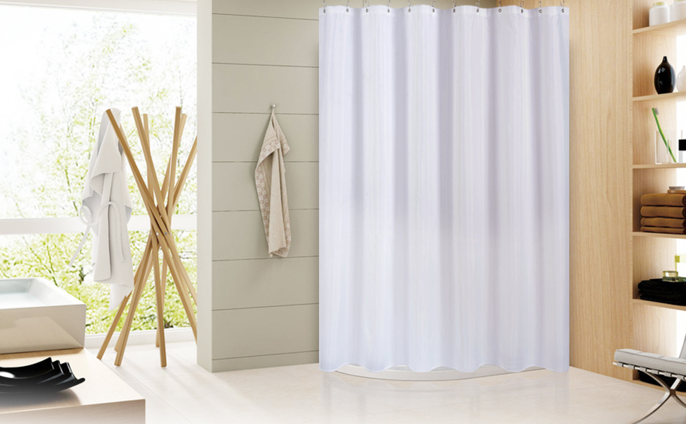 Amazon.com: Wimaha Water-Repellent Fabric Shower Curtain Liner ...