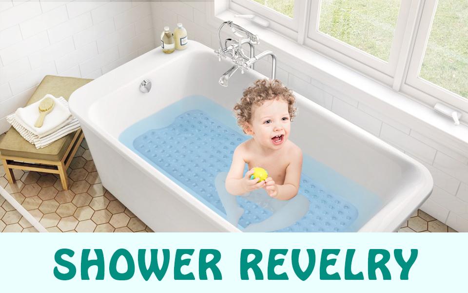 Amazon.com: Wimaha Non-Slip Bathtub Mats Extra Long Tub Mat Mildew ...