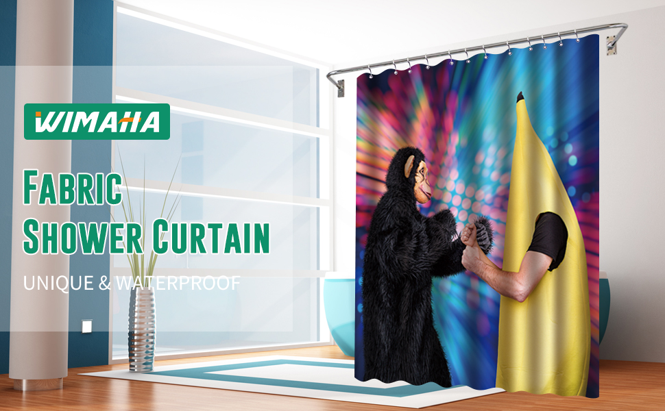 Wimaha Fabric Shower Curtain Brings Art Style Into Your Bathroom