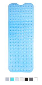 shower bath tub bathtub mat mildew resistant non slip extra long machine washable