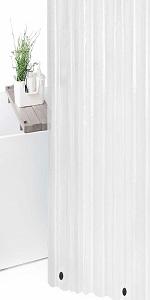 plastic eva shower curtain liner waterproof heavy duty magnetic magnets mildew resistant