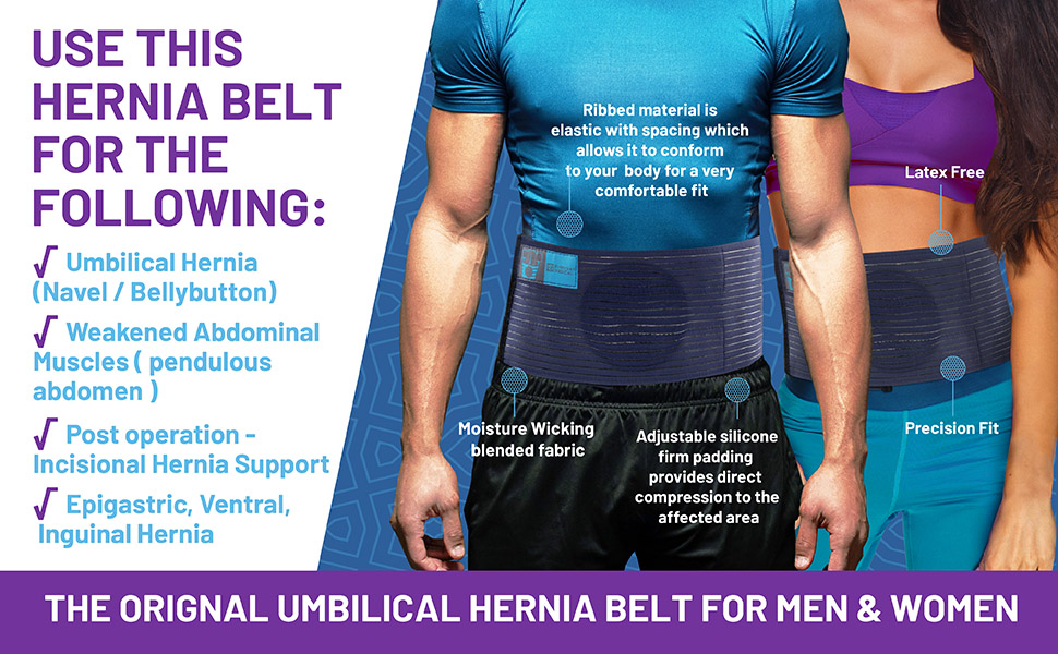 Everyday Medical Umbilical Hernia Belt - for Men and Women – Abdominal  Hernia Binder for Belly