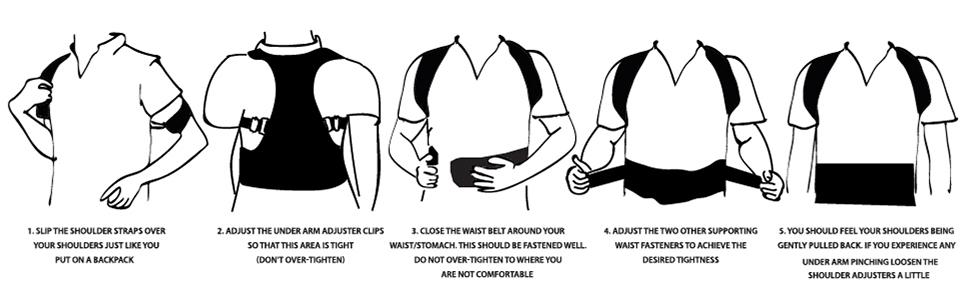 how to use posture corrector shoulder apply men women