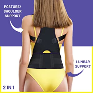 posture corrector brace for women and men