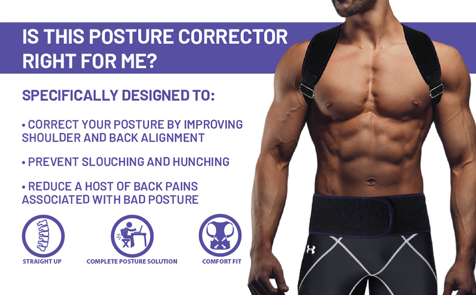 Posture Corrector Comfortable Adjustable Correct Babo Care Clavicle Support Upper Back Pain Relief