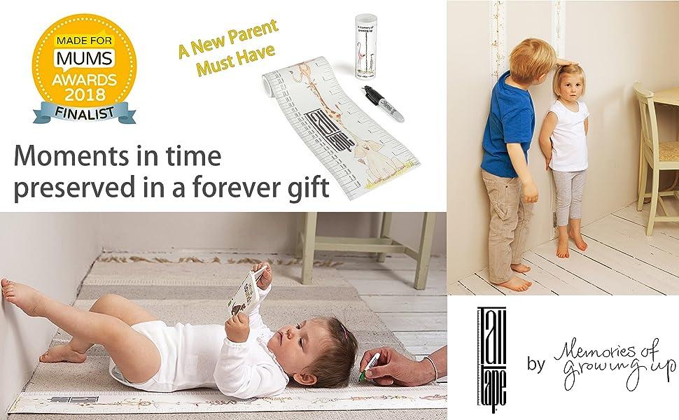 growth chart height chart baby toddler ruler child gift christening nursery décor memento keepsake