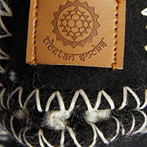 Tibetan Socks wool felt slipper sole