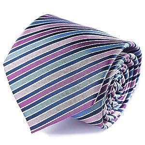 striped ties silk Qobod