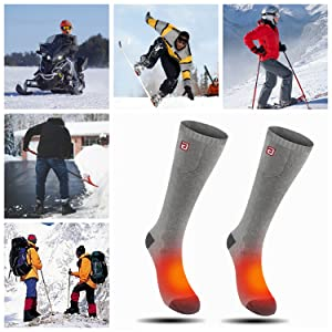 electric heating foot warmers electric motorcycle battery heated socks