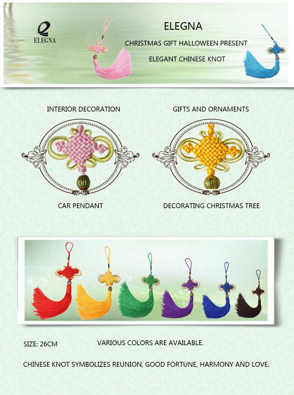 Amazon.com: ELEGNA Elegant Chinese Knot Christmas Gift Halloween ...