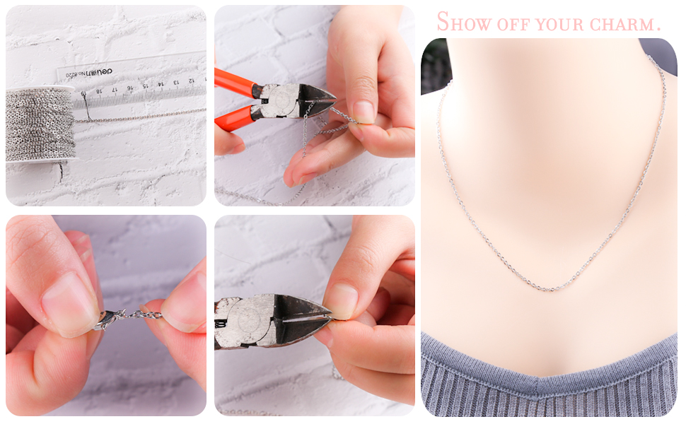 Lobster Clasps and Jump Rings for Jewelry Chain DIY Making