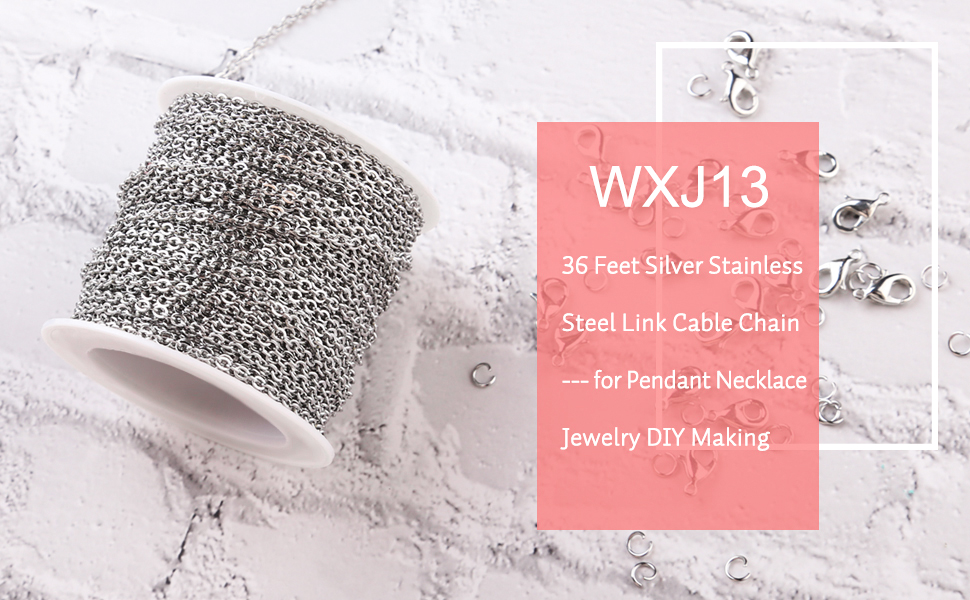 Silver Stainless Steel Link Cable Chain